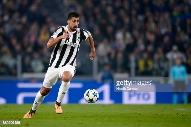 Sami Khedira of Juventus FC in action during the UEFA Champions League football match between Juventus FC and Sporting CP Juventus FC wins 21 over...