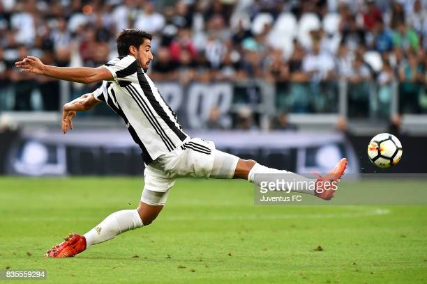 Sami Khedira of Juventus in action during the Serie A match between Juventus and Cagliari Calcio at Allianz Stadium on August 19 2017 in Turin Italy
