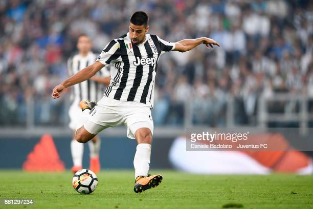 Sami Khedira of Juventus in action during the Serie A match between Juventus and SS Lazio on October 14 2017 in Turin Italy