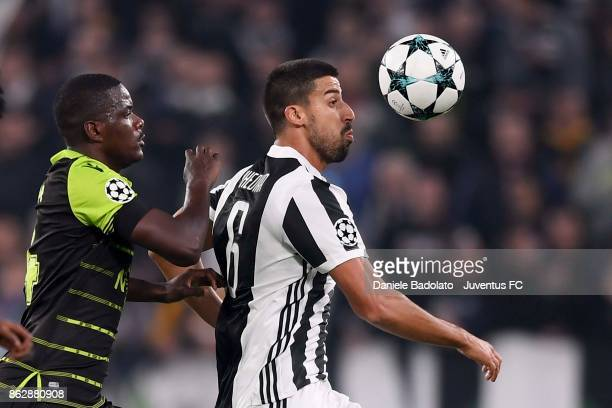 Sami Khedira of Juventus in action during the UEFA Champions League group D match between Juventus and Sporting CP at Allianz Stadium on October 18...