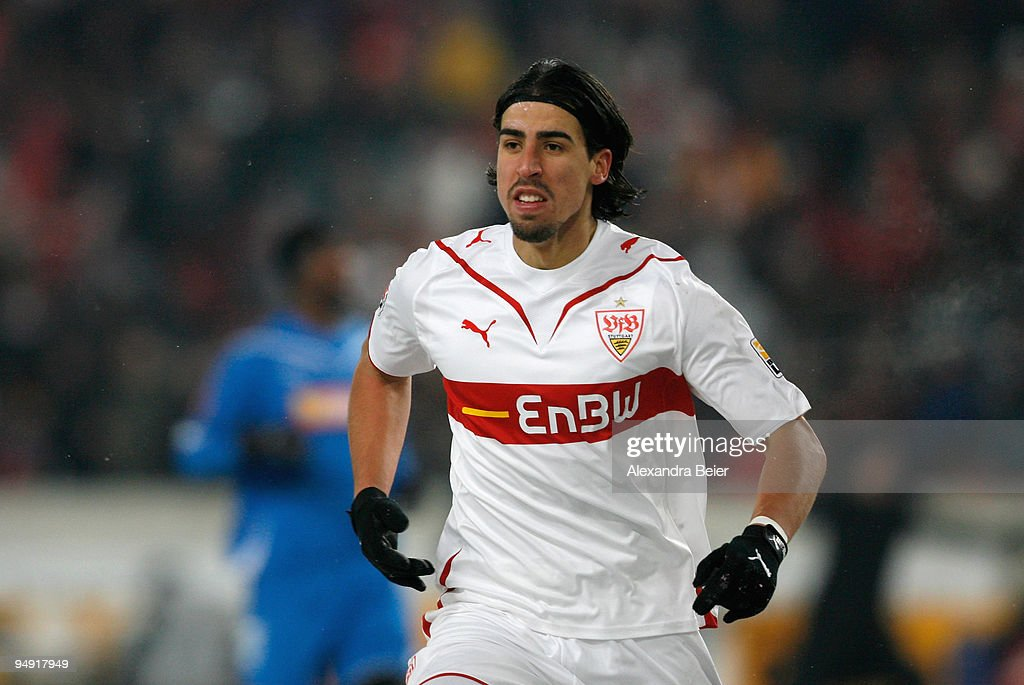 <a gi-track='captionPersonalityLinkClicked' href=/galleries/search?phrase=Sami+Khedira&family=editorial&specificpeople=2513712 ng-click='$event.stopPropagation()'>Sami Khedira</a> of Stuttgart reacts after his goal during the Bundesliga soccer match between VfB Stuttgart and 1899 Hoffenheim at Mercedes-Benz Arena on December 19, 2009 in Stuttgart, Germany.