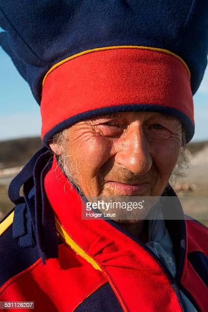Sami native Nils in traditional costume