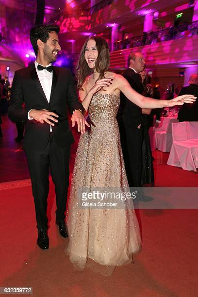 Sami Slimani and Alana Siegel during the 44th German Film Ball 2017 party at Hotel Bayerischer Hof on January 21 2017 in Munich Germany