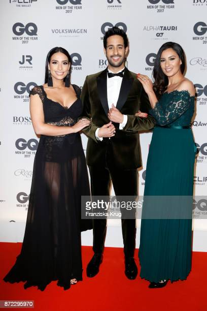 Sami Slimani and his sisters Lamiya Slimani and Dounia Slimani arrive for the GQ Men of the year Award 2017 at Komische Oper on November 9 2017 in...