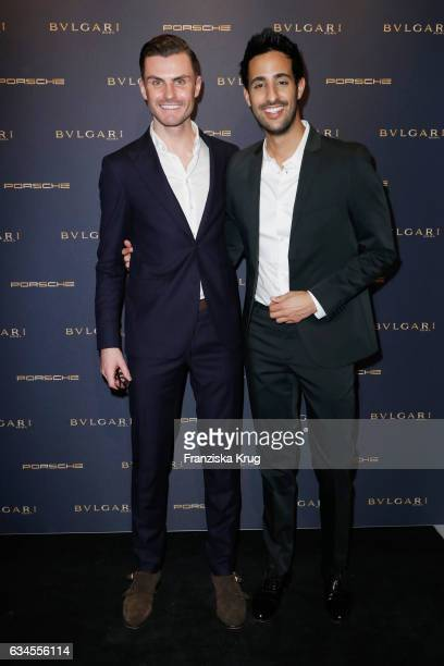 Sami Slimani and PaulHenry Duval attend the Bulgari 'Night of the Legend' event during the 67th Berlinale International Film Festival on February 9...