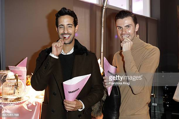 Sami Slimani and PaulHenry Duval attend the 'Gala' fashion brunch during the MercedesBenz Fashion Week Berlin A/W 2017 at Ellington Hotel on January...