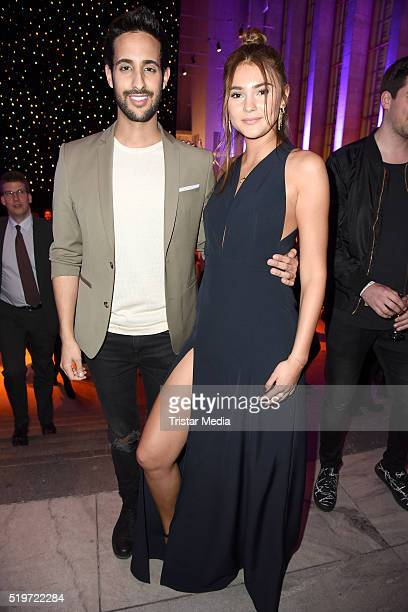 Sami Slimani and Stefanie Giesinger attend the Echo Award 2016 after show party on April 07 2016 in Berlin Germany