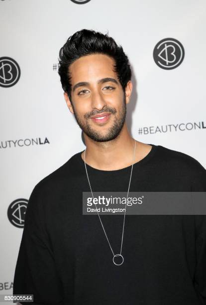 Sami Slimani attends Day 1 of the 5th Annual Beautycon Festival Los Angeles at the Los Angeles Convention Center on August 12 2017 in Los Angeles...