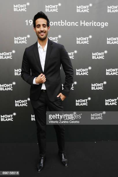 Sami Slimani attends the '1926 Montblanc Heritage Launch event' on June 14 2017 in Florence Italy