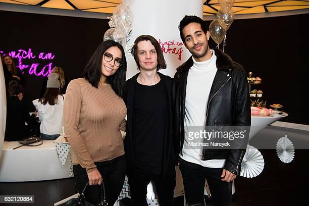 Sami Slimani Tim Parsiegla and Lamiya Slimani attend the 'LECK MICH AM HASHTAG' brunch during MercedesBenz Fashion Week Berlin A/W 2017 on January 19...