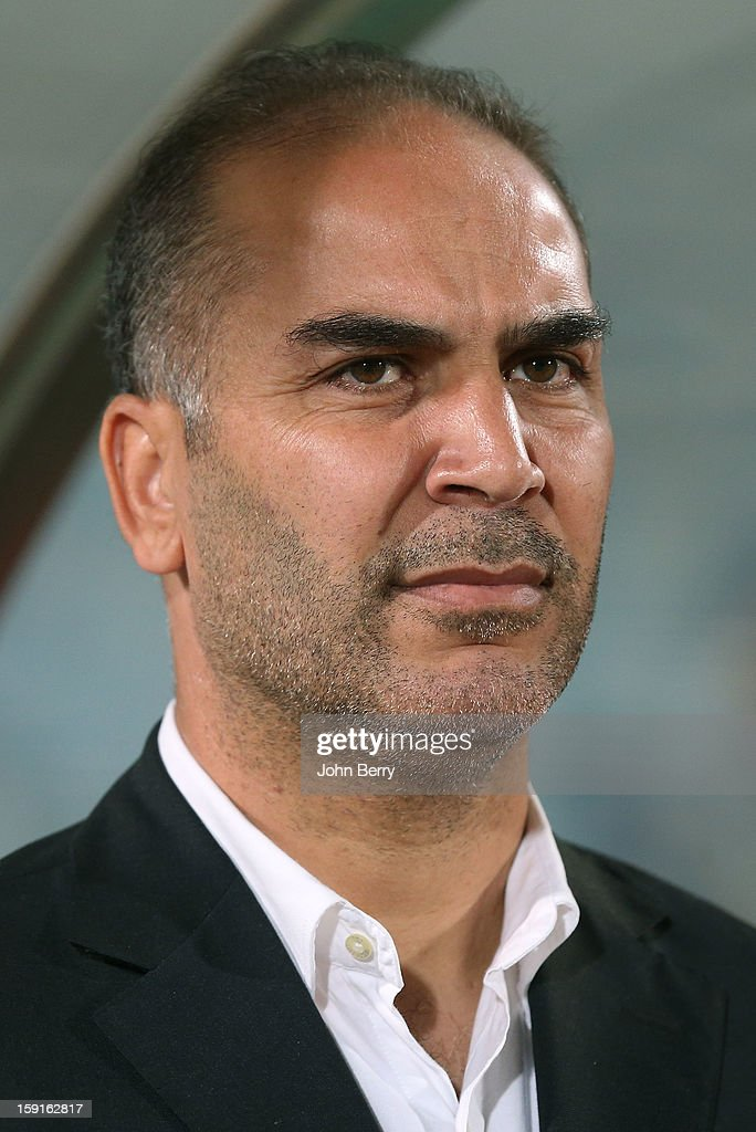 Sami Trabelsi, coach of Tunisia looks on during the international friendly game between Tunisia and Ethiopia at the Al Wakrah Stadium on January 7, 2013 in Doha, Qatar.