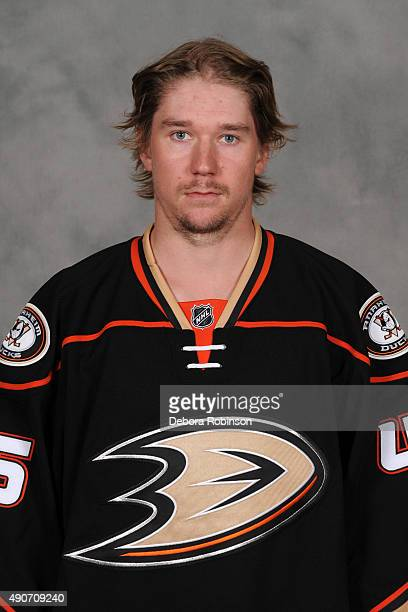 Sami Vatanen of the Anaheim Ducks poses for his official headshot for the 20152016 season on September 10 2015 at Honda Center in Anaheim California