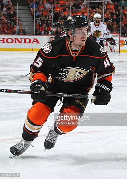 Sami Vatanen of the Anaheim Ducks skates against the Chicago Blackhawks in Game One of the Western Conference Finals during the 2015 NHL Stanley Cup...