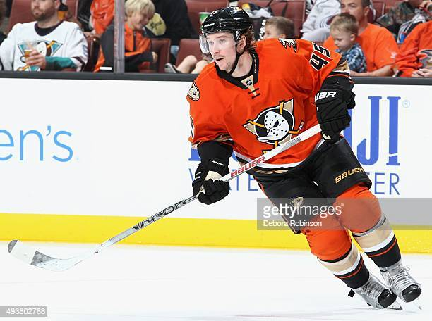 Sami Vatanen of the Anaheim Ducks skates against the Colorado Avalanche on October 16 2015 at Honda Center in Anaheim California
