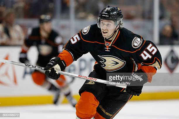 Sami Vatanen of the Anaheim Ducks skates during a game against the San Jose Sharks at Honda Center on December 4 2015 in Anaheim California