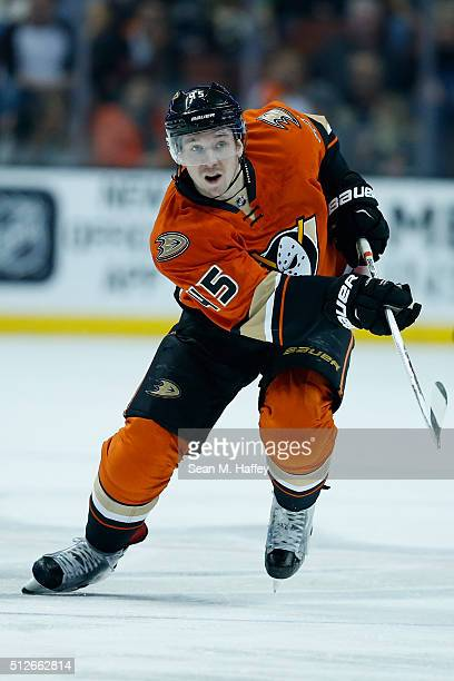 Sami Vatanen of the Anaheim Ducks skates during the first period of a game against the Calgary Flames at Honda Center on February 21 2016 in Anaheim...