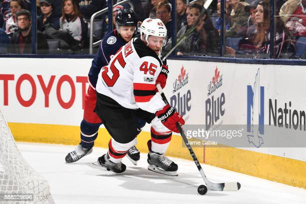 Sami Vatanen of the New Jersey Devils skates against the Columbus Blue Jackets on December 5 2017 at Nationwide Arena in Columbus Ohio