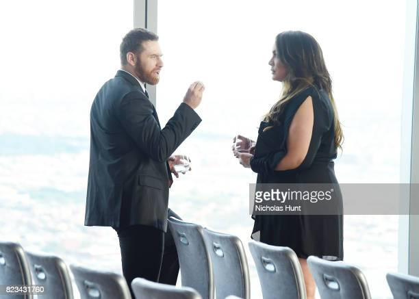 Sami Zayn and Nia Jax talk at the Beyond Sport Global Awards on July 26 2017 in New York City