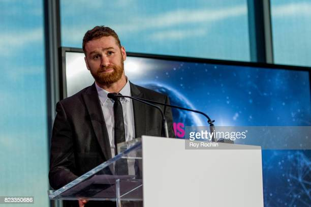 Sami Zayn presents Courageous Use of Sport award presented by WWE during the Beyond Sport Global Awards on July 26 2017 in New York City