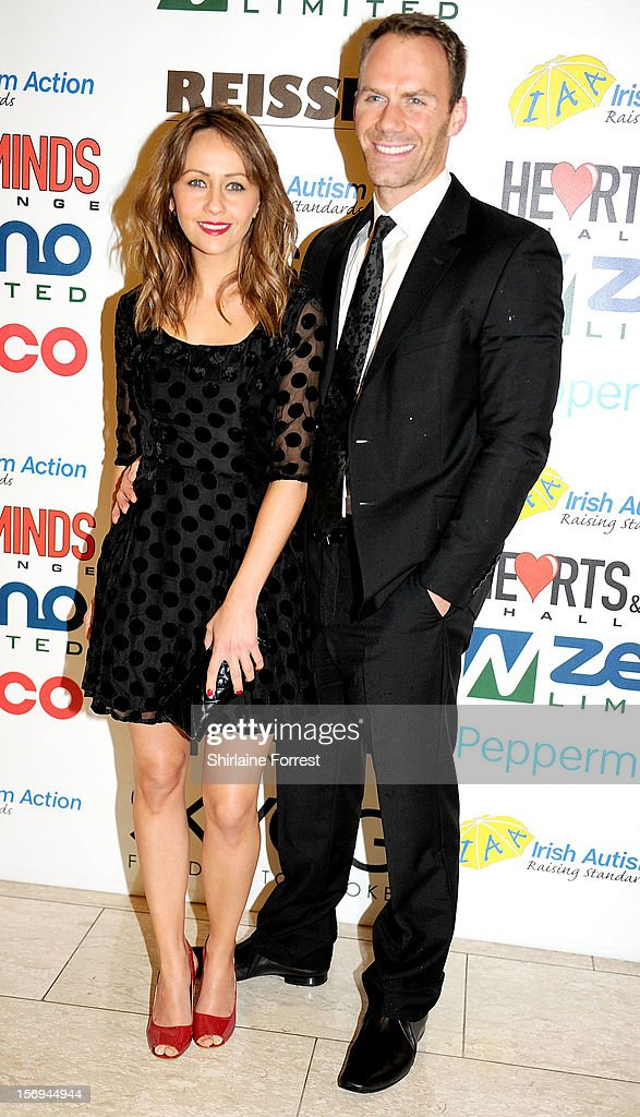 Samia Ghadie and boyfriend Will Thorp attend the Hearts and Minds charity ball at Hilton Hotel on November 25, 2012 in Manchester, England.
