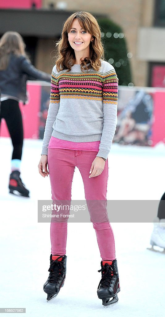 Samia Ghadie skates at Selfridges The Trafford Centre Ice Rink to practice for her debut on Dancing On Ice at The Trafford Centre on December 18, 2012 in Manchester, England.
