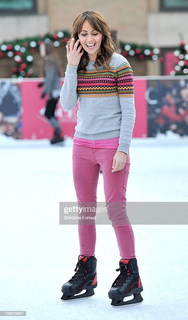 <a gi-track='captionPersonalityLinkClicked' href=/galleries/search?phrase=Samia+Ghadie&family=editorial&specificpeople=217588 ng-click='$event.stopPropagation()'>Samia Ghadie</a> skates at Selfridges The Trafford Centre Ice Rink to practice for her debut on 'Dancing On Ice' at The Trafford Centre on December 18, 2012 in Manchester, England.