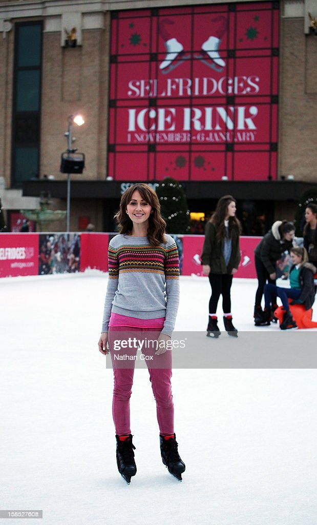 Samia Ghadie visits The Selfridges Trafford Centre Ice Rink for a spot of practice before competing in 2013's Dancing On Ice, at The Trafford Centre on December 18, 2012 in Manchester, England.