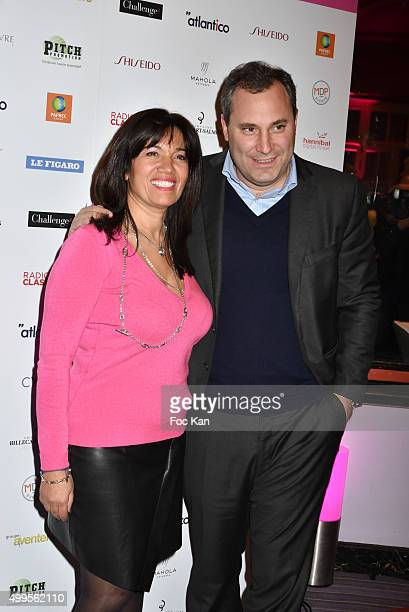 Samia Ghali and Benjamin Patou from MOMA group attend the 'Prix de la Femme d'Influence 2015' Award Ceremony on December 1 2015 in Paris France