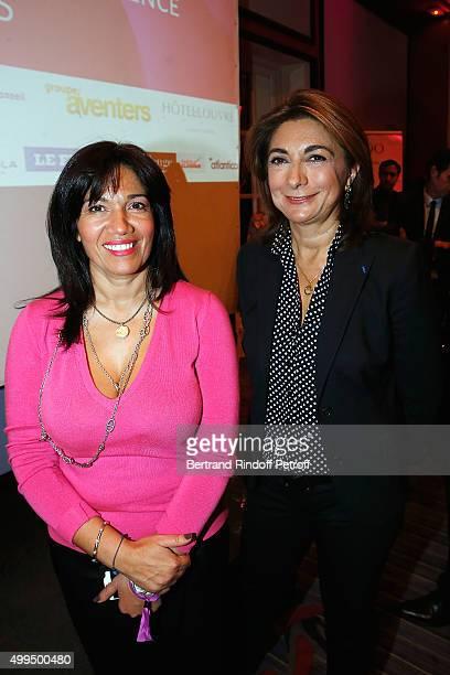 Samia Ghali and Martine Vassal attend the 'Prix de la Femme d'Influence 2015' Award Ceremony on December 1 2015 in Paris France