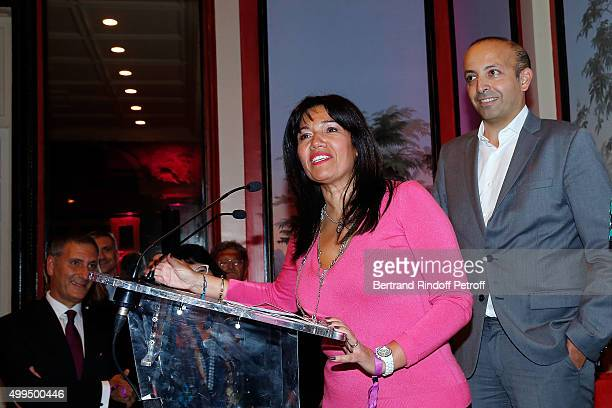 Samia Ghali and Rakik Smati attend the 'Prix de la Femme d'Influence 2015' Award Ceremony on December 1 2015 in Paris France