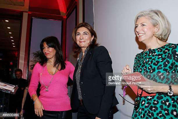 Samia Ghali Martine Vassal and Patricia Chapelotte attend the 'Prix de la Femme d'Influence 2015' Award Ceremony on December 1 2015 in Paris France