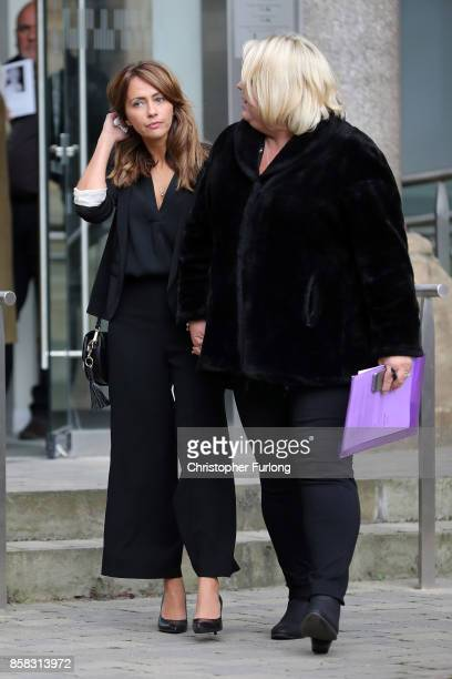 Samia Longchambon departs the funeral of actress Liz Dawson at Salford Cathedral on October 6 2017 in Salford England Actress Liz Dawn who died aged...