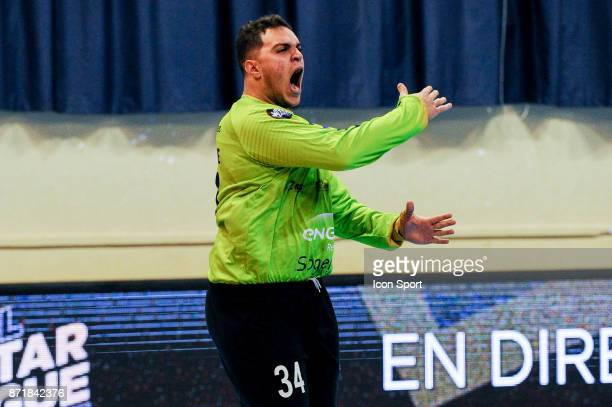 Samir Bellahcene of Massy during the Lidl Starligue match between Massy and Chambery on November 8 2017 in Massy France