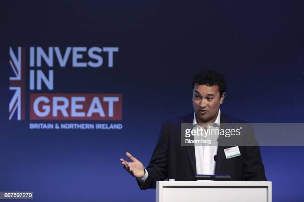 Samir Desai cofounder and chief executive officer of Funding Circle Ltd speaks during the International Fintech Conference in London UK on Wednesday...
