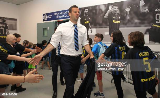 Samir Handanovic of FC Internazionale arrives prior to the Serie A match between FC Internazionale and Udinese Calcio at Stadio Giuseppe Meazza on...