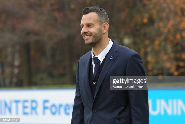 Samir Handanovic of FC Internazionale back stage during the FC Internazionale Official Photoshoot at the club's training ground Suning Training...