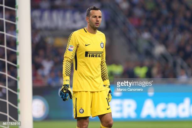 Samir Handanovic of FC Internazionale during the Serie A match between FC Internazionale and AC Milan Fc Internazionale wins 32 over Ac Milan