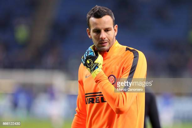 Samir Handanovic of FC Internazionale during the Serie A match between FC Internazionale and Uc Sampdoria Fc Internazionale wins 32 over Uc Sampdoria