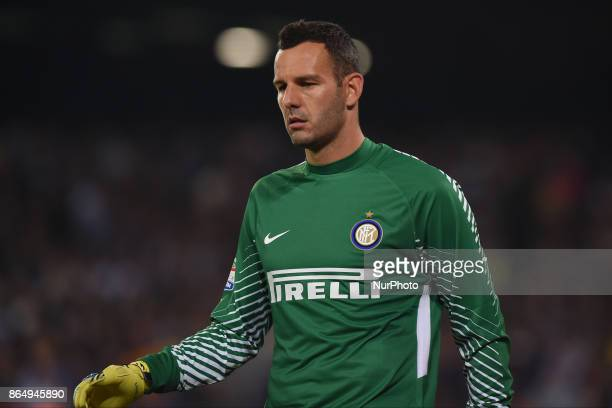 Samir Handanovic of FC Internazionale during the Serie A TIM match between SSC Napoli and FC Internazionale at Stadio San Paolo Naples Italy on 22...