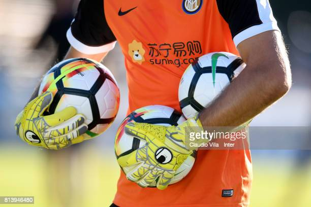 Samir Handanovic of FC Internazionale in action during the FC Internazionale training session on July 13 2017 in Reischach near Bruneck Italy