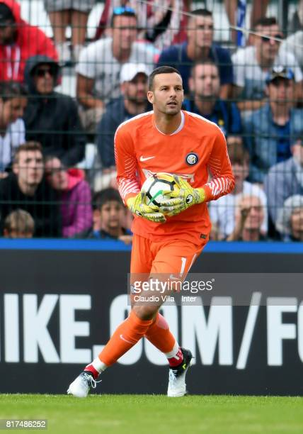 Samir Handanovic of FC Internazionale in action during the PreSeason Friendly match between FC Internazionale and Nurnberg on July 15 2017 in Bruneck...