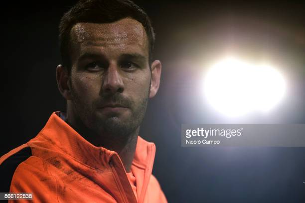 Samir Handanovic of FC Internazionale look on prior to the Serie A football match between FC Internazionale and UC Sampdoria FC Internazionale won 32...