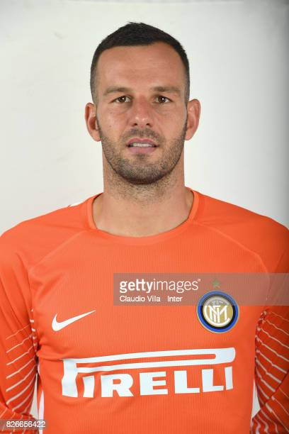 Samir Handanovic of FC Internazionale poses on July 7 2017 in Reischach near Bruneck Italy