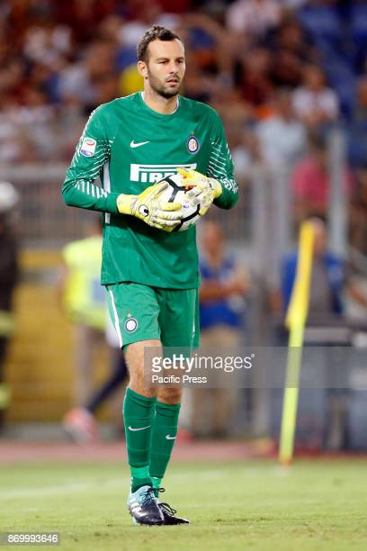 Samir Handanovic of Inter during the Italian Serie A soccer match against Roma in Rome Inter defeating Roma 31