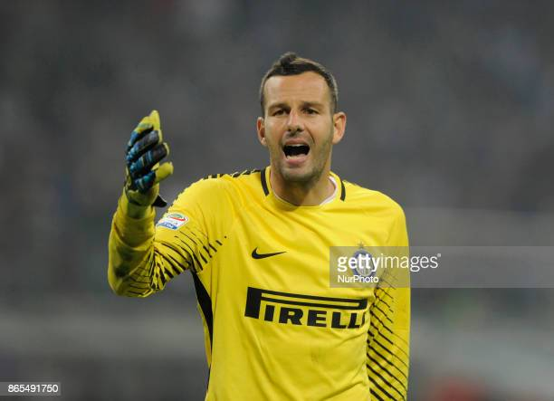 Samir Handanovic of Inter goalkeeper during the match valid for Italian Football Championships Serie A 20172018 between FC Internazionale and AC...