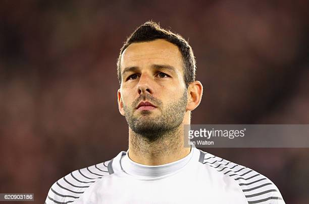 Samir Handanovic of Internazionale looks on during the UEFA Europa League Group K match between Southampton FC and FC Internazionale Milano at St...