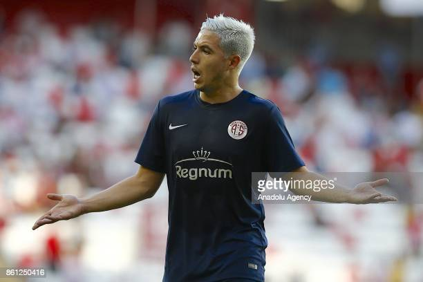 Samir Nasri of Antalyaspor reacts during the Turkish Super Lig soccer match between Antalyaspor and Goztepe at Antalya Stadium in Antalya Turkey on...