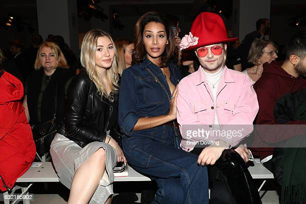 Samira Pari Roehi and Jack Strify attend the Sadak show during the MercedesBenz Fashion Week Berlin A/W 2017 at Kaufhaus Jandorf on January 20 2017...