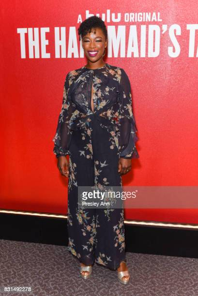 Samira Wiley attends FYC Event For Hulu's 'The Handmaid's Tale' at DGA Theater on August 14 2017 in Los Angeles California