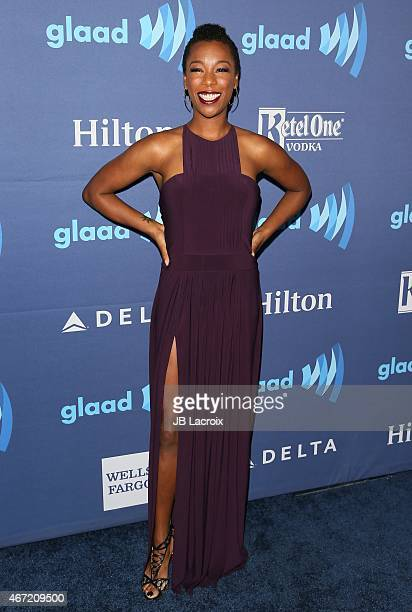Samira Wiley attends the 26th Annual GLAAD Media Awards at The Beverly Hilton Hotel on March 21 2015 in Beverly Hills California